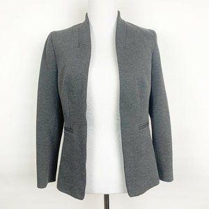 J Crew Collarless Blazer Italian Size 2 Grey